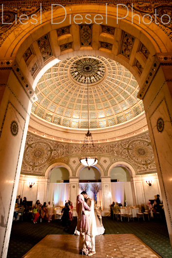 Chicago Cultural Center Wedding.Wedding Of The Day Strikes Again Shahzeen Prem At The