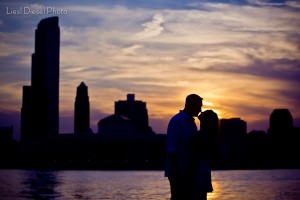 sunset chicago skyline adler planetarium