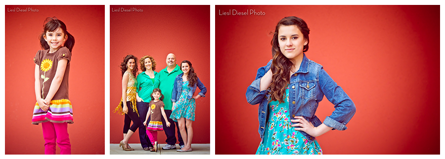 destination family portrait session red wall liesl diesel photo