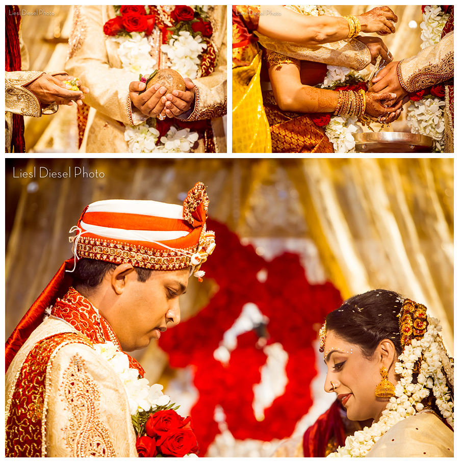 Hindu Wedding Ceremony: Hindu Temple Wedding By Liesl Diesel Photo Los Angeles