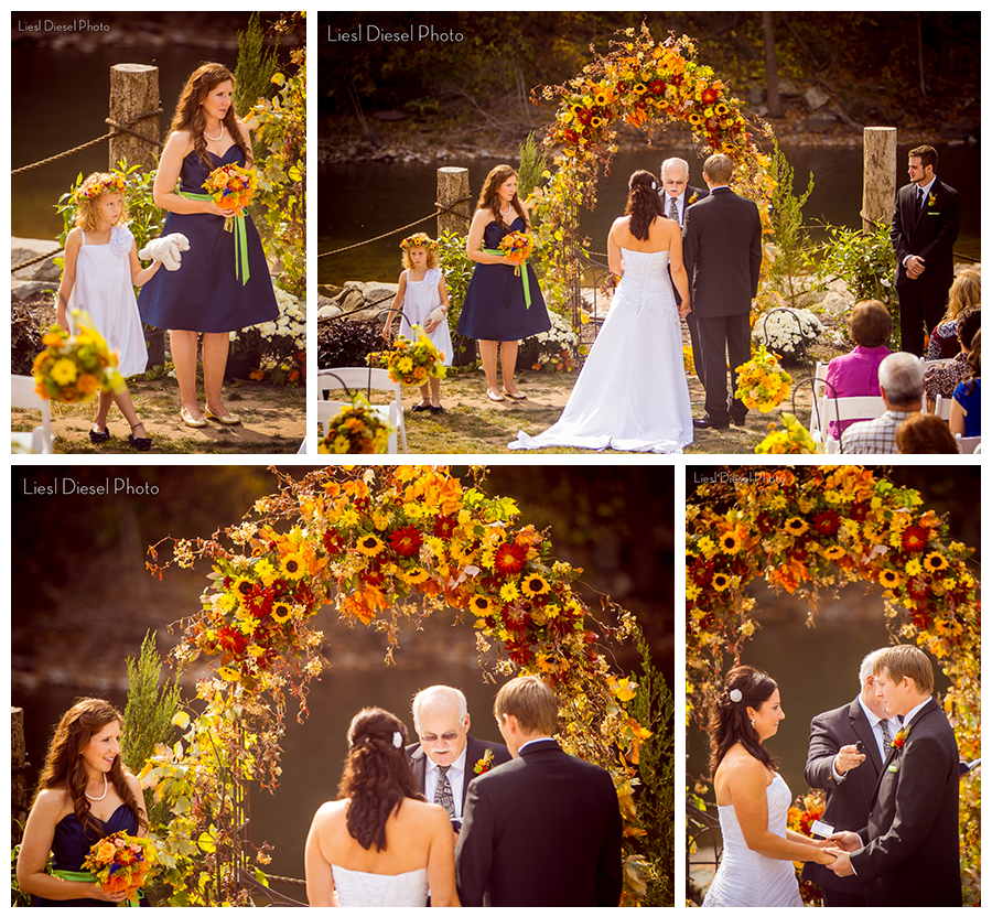 5 outdoor rustic country wedding ceremony flower floral arbor red ...