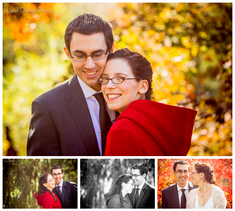 fall outdoor wedding bride groom portraits wedding red riding hood coat fall inspiration colors palette feast round hill western new york venue
