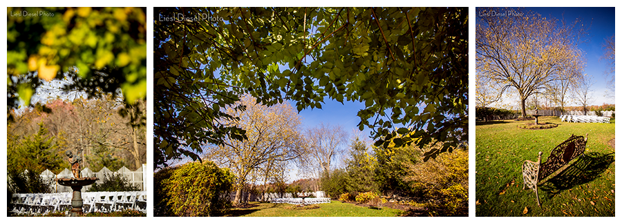 fall outdoor wedding ceremony location feast round hill new york liesl diesel photo